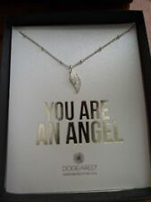 "Dogeared Sterling Silver ""You Are An Angel"" Single Angel Wing Necklace 16"" New"