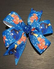 3inches Finding Dory Nemo Pin Wheel Hair Bows Toddler Girl Disney