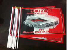 "Man United Hand Flag approx 12"" x 18"" BUY ONE GET GET ONE FREE.Manchester United"
