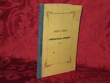 Libro 1849 Brevi Cenni di Fisiologia Umana per uso degli Alunni Florido Zamponi