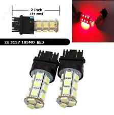2Pcs 3157 Red 18SMD 5050 LED Reverse Back Up Brake Stop Turn Tail Light Bulbs