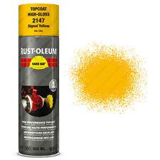 x2 Industriel Rust-Oleum Signal Jaune Peinture Aérosol Solide Chapeau 500ml RAL