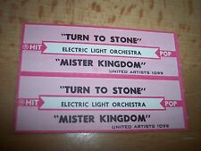 """2 ELO Electric Light Orchestra Turn To Stone Jukebox Title Strip 7"""" 45RPM Record"""