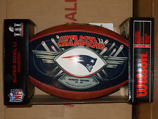 WILSON OFFICIAL PATRIOTS SUPER BOWL 51 CHAMPIONS BLUE AUTHENTIC FOOTBALL 2017