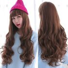 New Fashion Women Deep Curly Wavy Long Brown Hair Full Wigs Cosplay Party Wig
