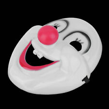 NEW Scary Crazed Clown Horror Mask Halloween Fancy Dress Circus Troupe Party LO