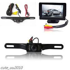 """4.3""""TFT LCD Display Monitor + IR Night Vision Auto Car Reverse Backup Camera Kit"""