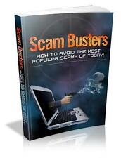 Scam Busters Ebook On CD $5.95 Plus Resale Rights Free Shipping