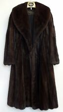 Mahogany Mink Coat Brown Fur Luxurious Full Length Jacket Sullivan Furs Ladies