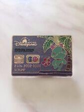 Lilo & Stitch Scrump credit card HKDL Disney pin 2013