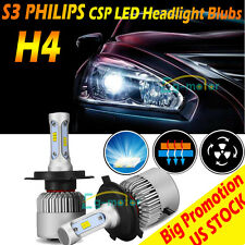 2017 Bright H4 9003 HB2 PHILIPS LED Headlights Bulbs Kit 25200LM 252W Hi-Lo Beam