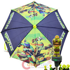 TMNT Ninja Turtles Umbrella with 3D Michelangel Figure -TMNT Power Kids Size