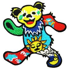 Grateful Dead Dancing Bear Heavy Metal Rock Music Band Embroidered Patch Iron On