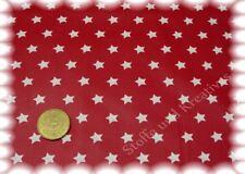 Sterne beschichtet Wachstuch rot weiß Sternenstoff Baumwolle 50 cm