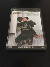 THE PIANO TEACHER DVD UNRATED DIRECTOR'S CUT ISABELLE HUPPERT  ANNIE GIRARDOT
