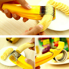 Kitchen Tools Banana Slicer Gadgets Strawberry Stem Remover Egg Cutte Yellow exp
