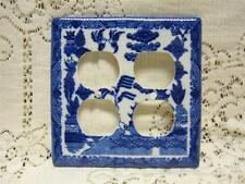 BLUE WILLOW TRADITIONAL DOUBLE ELECTRICAL OUTLET COVER ORIENTAL CHINESE JAPANESE