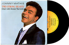 "JOHNNY MATHIS/DIONNE WARWICK - TWO STRONG HEARTS - PROMO 7""45 RECORD PICSLV 1988"