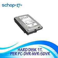 "HARD DISK INTERNO 3,5"" 1TB 1000 GB SATA WESTERN  PC HDD HD RIGENERATO"