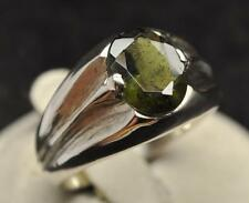 2.405 CT MOLDAVITE TEKTITE .925 STERLING SILVER MENS RING SIZE 10.5 SPACE METEOR