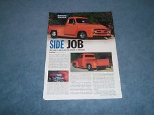 "1953 Ford F-100 Pickup Truck Pro Street Article ""Side Job"" F100"