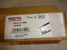 Ridgid 400 Series Instrument Benders 406m Tube Bender- New open