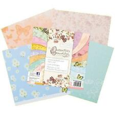 """BEAUTIFUL BUTTERFLY PAPERS 18 X 8"""" X 8"""" SAMPLE PACKS GREAT FOR CARDS AND CRAFTS"""