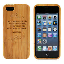 Apple iPhone 5 Natural Bamboo Case Genuine Wood Matthew 6:33 Bible Quote Cover