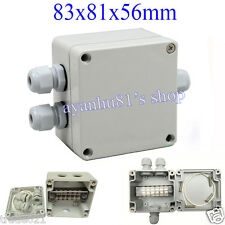Waterproof Enclosure Case Electrical Junction Box PG9 Terminal Box 83x81x56mm