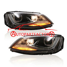 For 2011-2016 VW New Jetta MK6 LED DRL with Angel eyes and Bi Xenon Projector