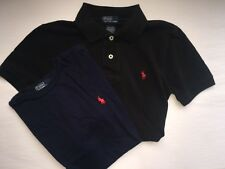 LOT OF 2 - T-SHIRT BOYS SIZE SMALL RALPH LAUREN BLACK & NAVY POLO & TEE COTTON