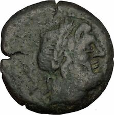 ROMAN REPUBLIC 130BC Rome Saturn Galley Row Ship Authentic Ancient Coin i53019