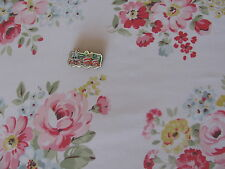 Cath Kidston Spring Bouquet Flowers white 45cm square FQ lightweight fabric new
