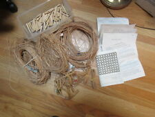 Hand Caning Materials 3 + Bundles Cane, Binder, 90 Wooden Pegs, Instructions