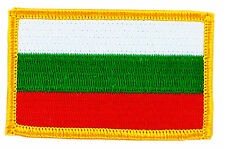 FLAG PATCH PATCHES BULGARIA BULGARIAN  RON ON COUNTRY EMBROIDERED WORLD FLAG