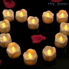 12PCS Decor Drop tear LED Tealight Candle Wedding Candels Safety Home Smokeless