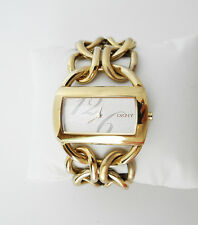 DKNY GOLD-TONE Ladies Watch NY4366 CHAIN-LINK BRACELET New Battery EXCELLENT
