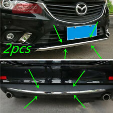 2pcs Chrome Front + Rear Bumper Molding Cover Trim For Mazda 6 Atenza 2014 2015