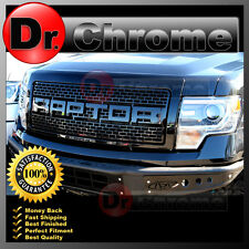 09-14 Ford F150 Raptor STV Style Shiny Black Front Hood Replacement Grille+Shell