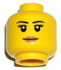 LEGO NEW FEMALE HEAD Girl Woman Peach Lips Smile Thin Eyebrows Minifigure Figure