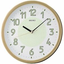 Seiko Gold Luminous Stylish Office Home 30cm Wall Clock Large Bold Numerals