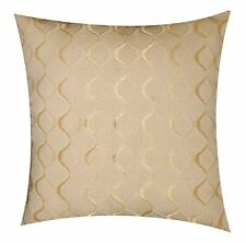 Two Sided Khadi Weaved Abstract Lined Plush Ivory Beige 17''x 17'' Cushion Cover