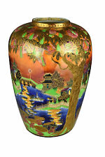 Large Antique Wedgwood Porcelain Fairyland Lustre Vase