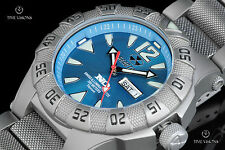 Reactor 45.5mm Gamma Titanium Caribbean Blue Dial Bracelet Watch w/ Never Dark