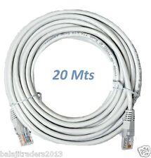 CAT5E  ETHERNET RJ45NETWORK INTERNET LAN CABLE PATCH MODEM ROUTER LEAD 20M M