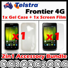 Telstra Frontier 4G Telstra Clear Soft Jelly TPU Gel Case Cover Screen Protector