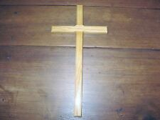 Beautiful Unadorned 12 Inch Oak Wood Wall Cross for Church or Home