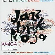 KRUG,MANFRED-JAZZ-LYRIK-PROSA  CD NEW