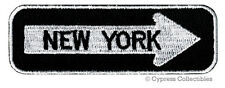 ONE-WAY SIGN PATCH - NEW YORK NY EMBROIDERED iron-on TRAVEL EMBLEM APPLIQUE city