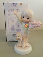 PRECIOUS MOMENT FIGURINE  -  283584 - GOD BLESS YOU WITH BOUQUETS OF VICTORY
